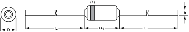 Through-Hole Glass Diodes