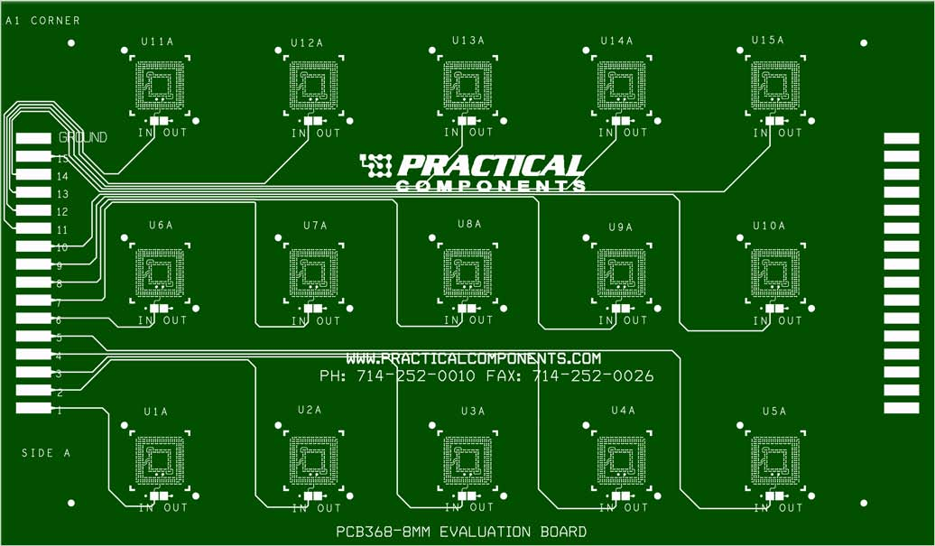 PCB368-8 .3mm Pitch CVBGA Qualification, Evaluation and Test Board