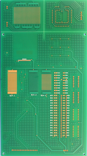 PCB test vehicles for cleaning and conformal coating of