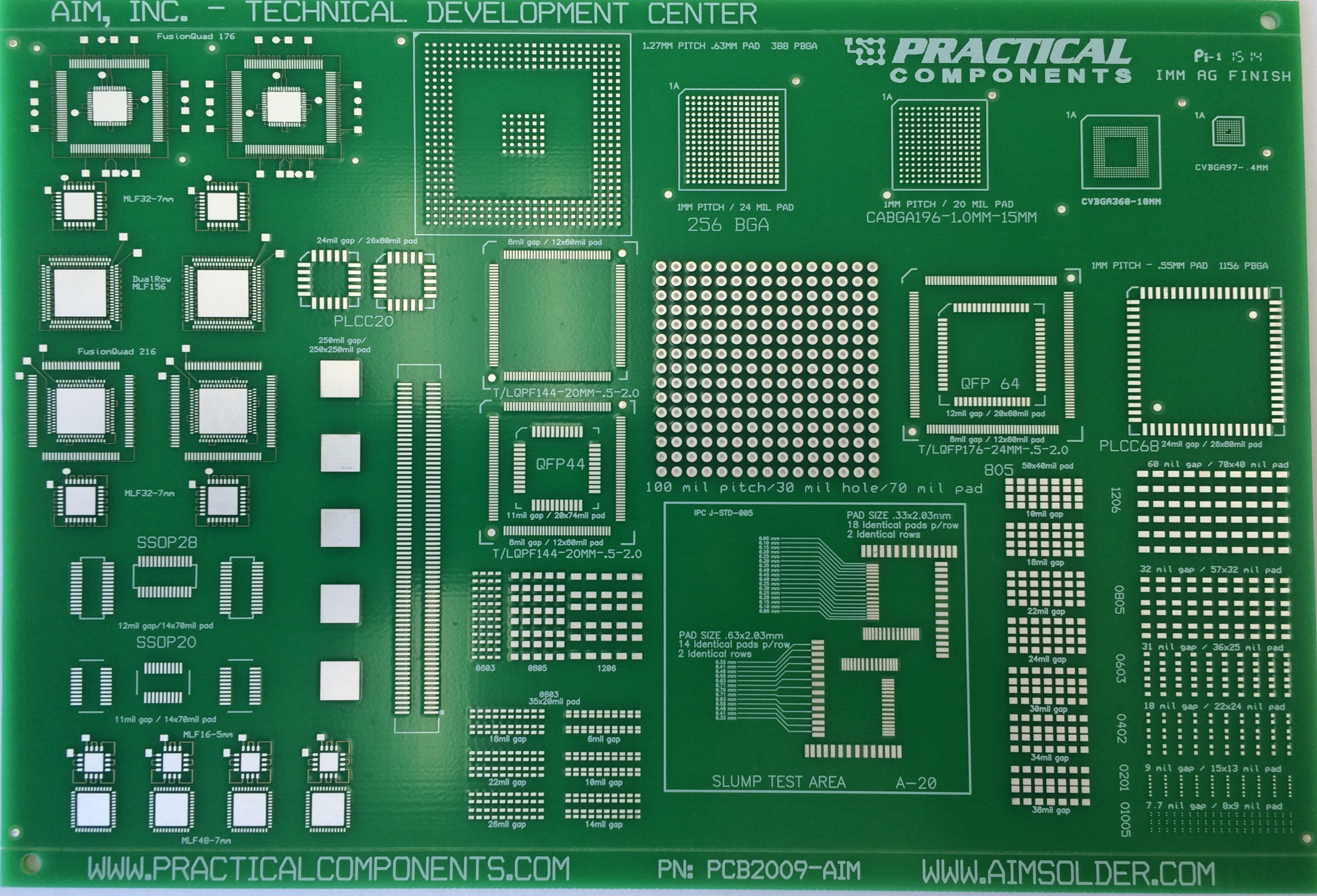 PC2009 AIM Solder Print Test Board and Kit