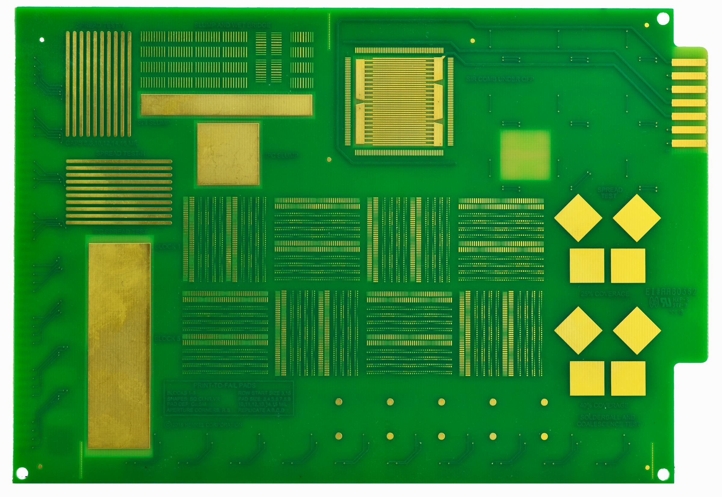SMTA Solder Paste Test Vehicle for Miniaturized Surface Mount Technology