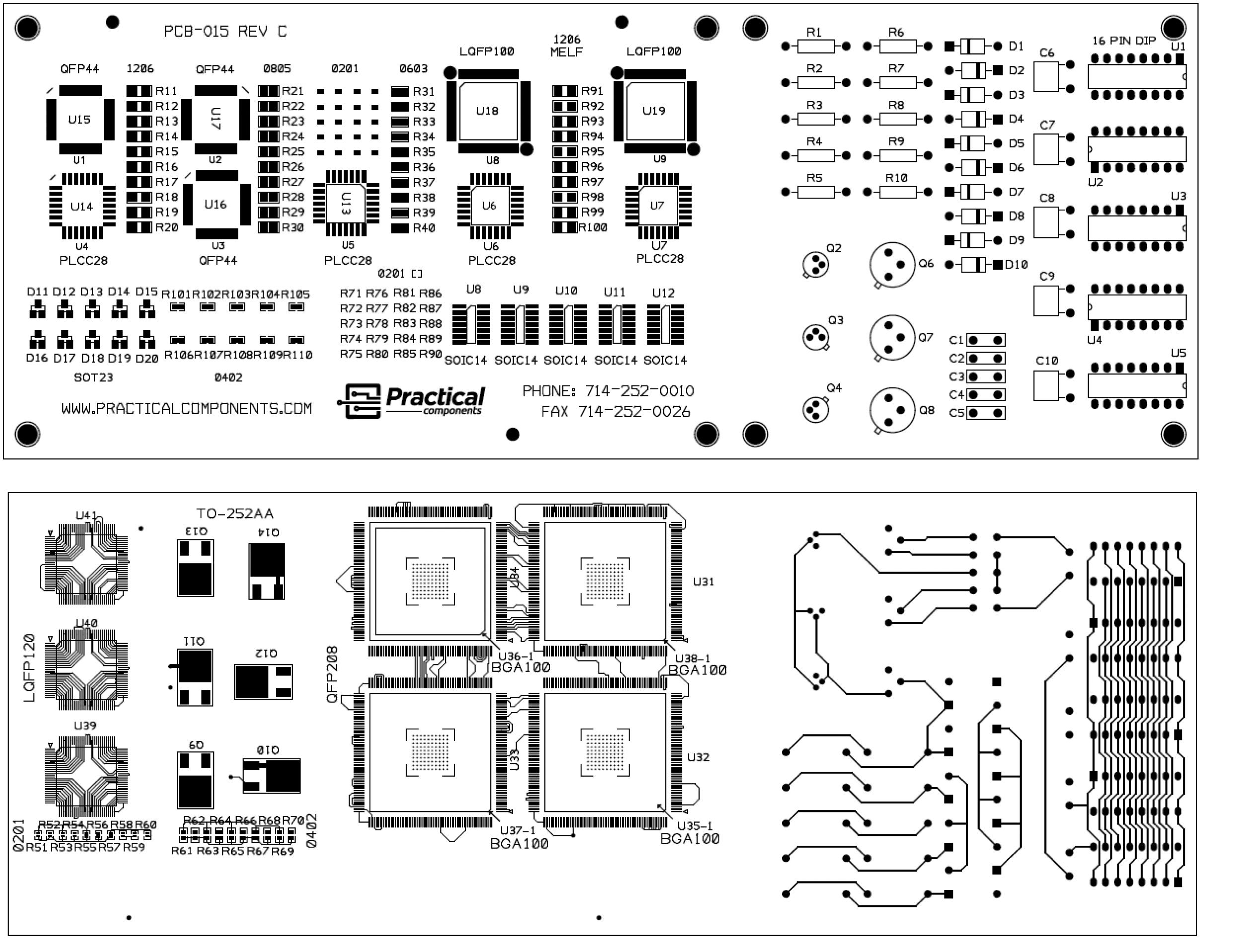 Practical Components Printed Circuit Board Repair Pcb Rework Modification Pc015 Rev C Ipc 7711 7721 Training Kit